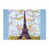 5x7 feet area rug on sale 35% off of $172, Eiffel Tower pointillism
