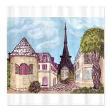 Eiffel Tower Paris inspired shower curtain in cafepress.com marketplace