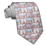 Custom art on neckties for Father's Day at http://zazzle.com/fabricatedframes/neck+ties Paris, Eiffel Tower