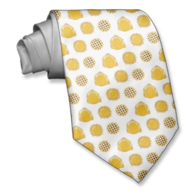 Turkey and Pie themed custom art on necktie for Father's day gift for dad at http://zazzle.com/fabricatedframes/neck+ties